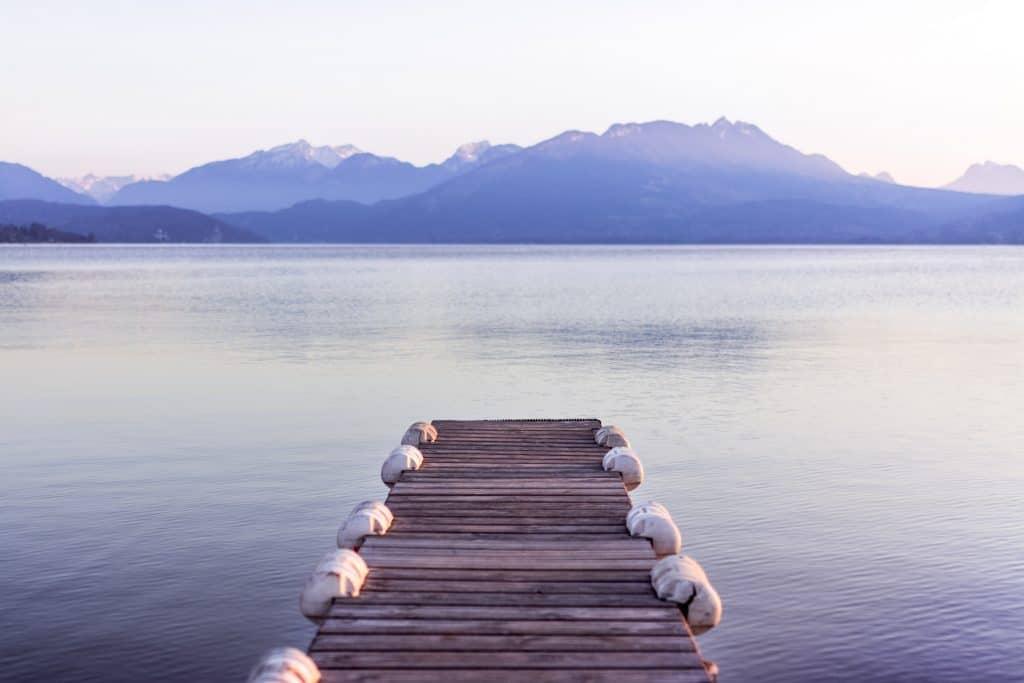 ponton lac annecy